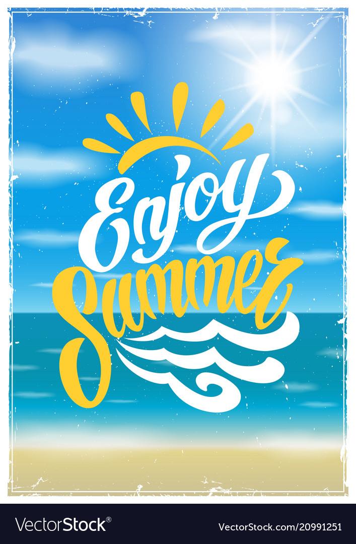 Summer colorful vintage poster