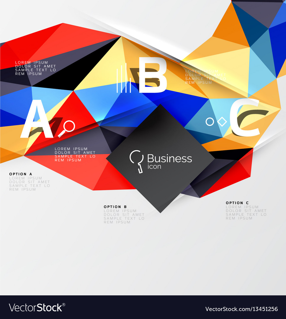 3d polygonal object triangles abstract background