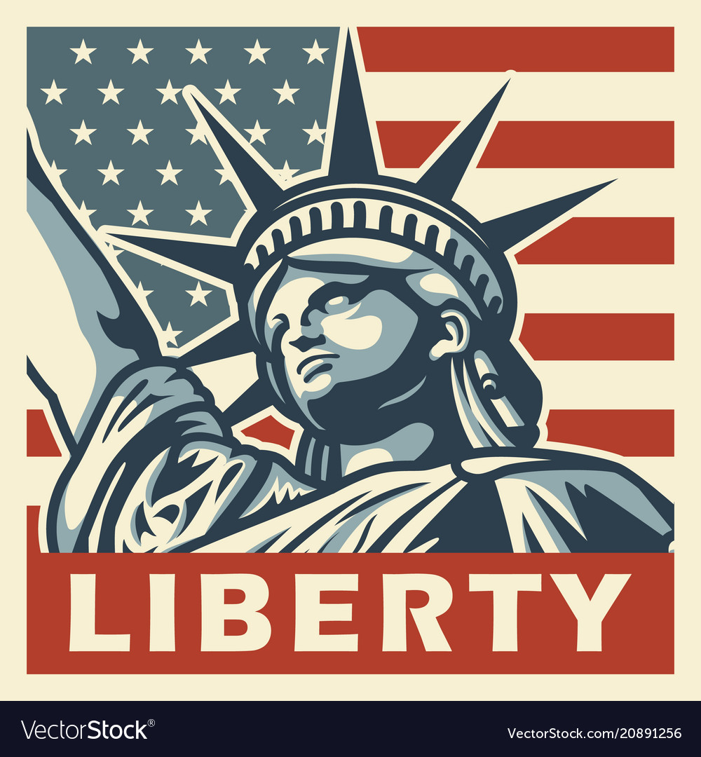 61ef6213924706 4th of july vintage poster Royalty Free Vector Image