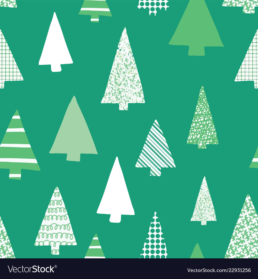 Abstract christmas tree seamless pattern