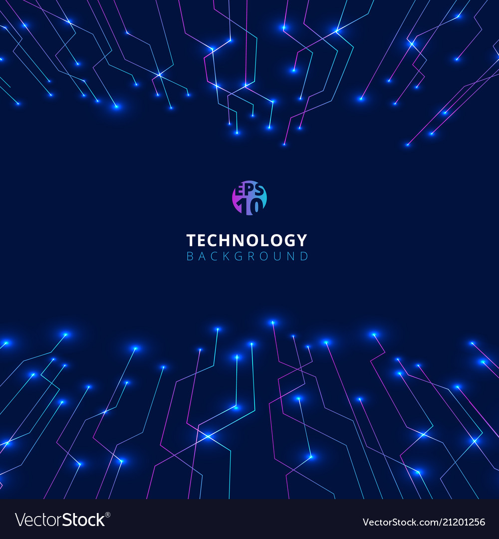 Abstract technology lines with lighting glow