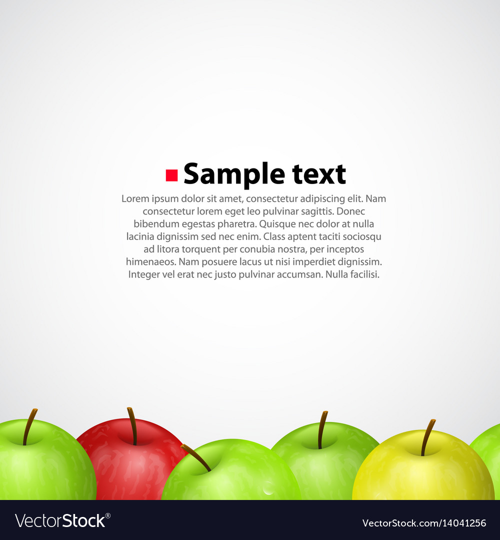 Apples on white sameness background
