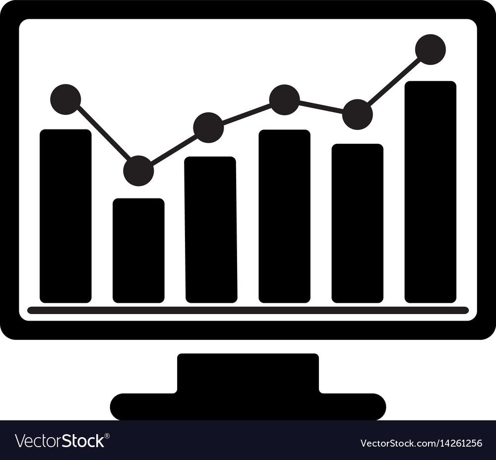 Bar chart monitoring icon