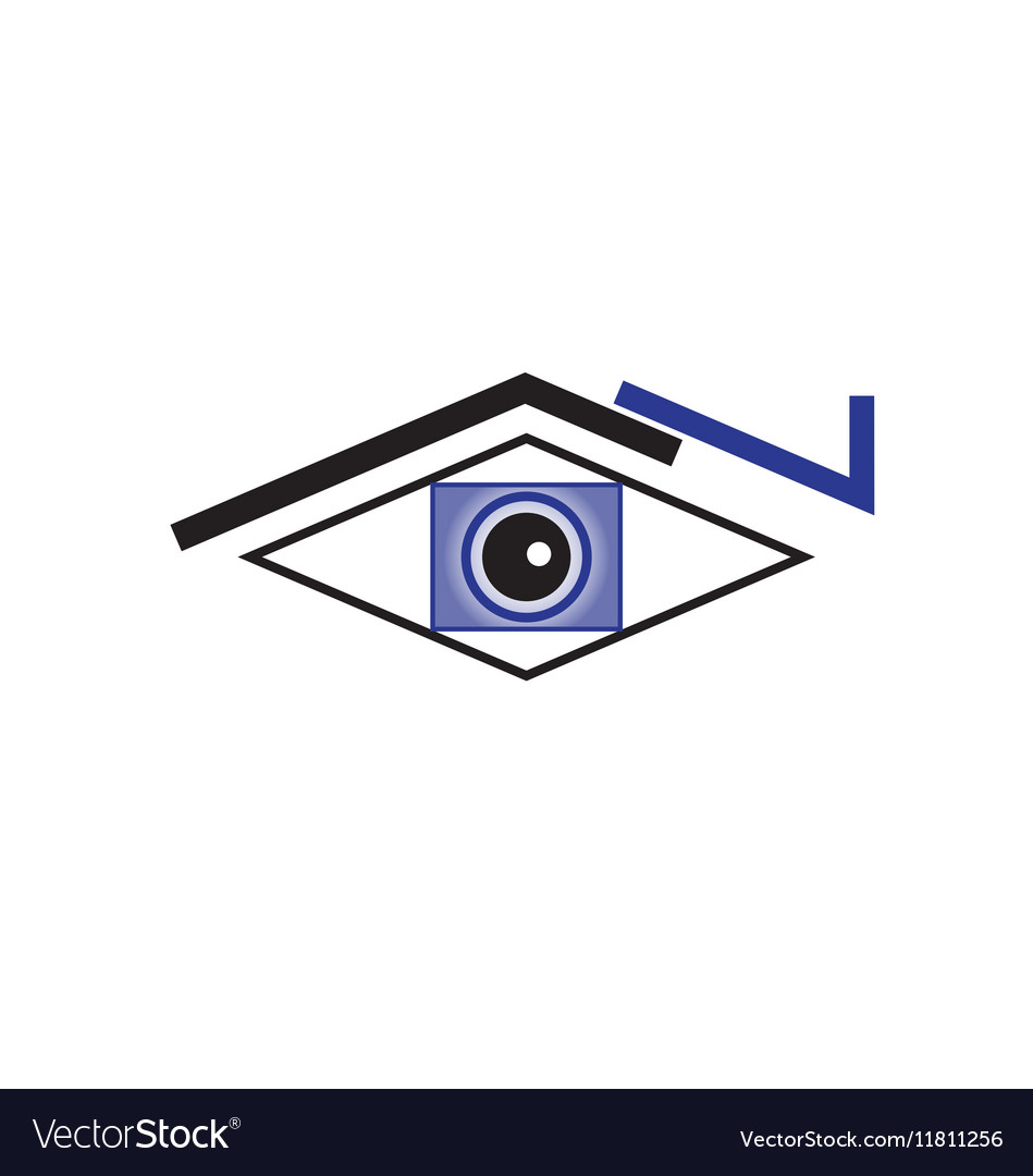 Original Stylized Eye For Various Purposes vector image