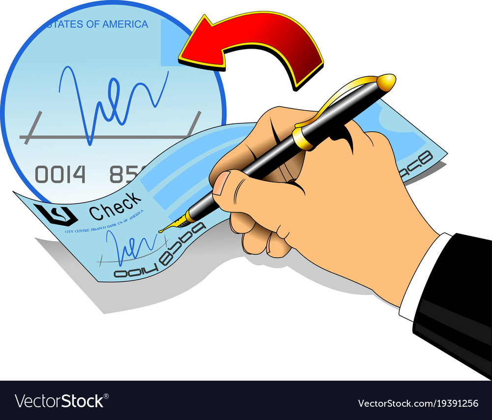 Signature on a bank check