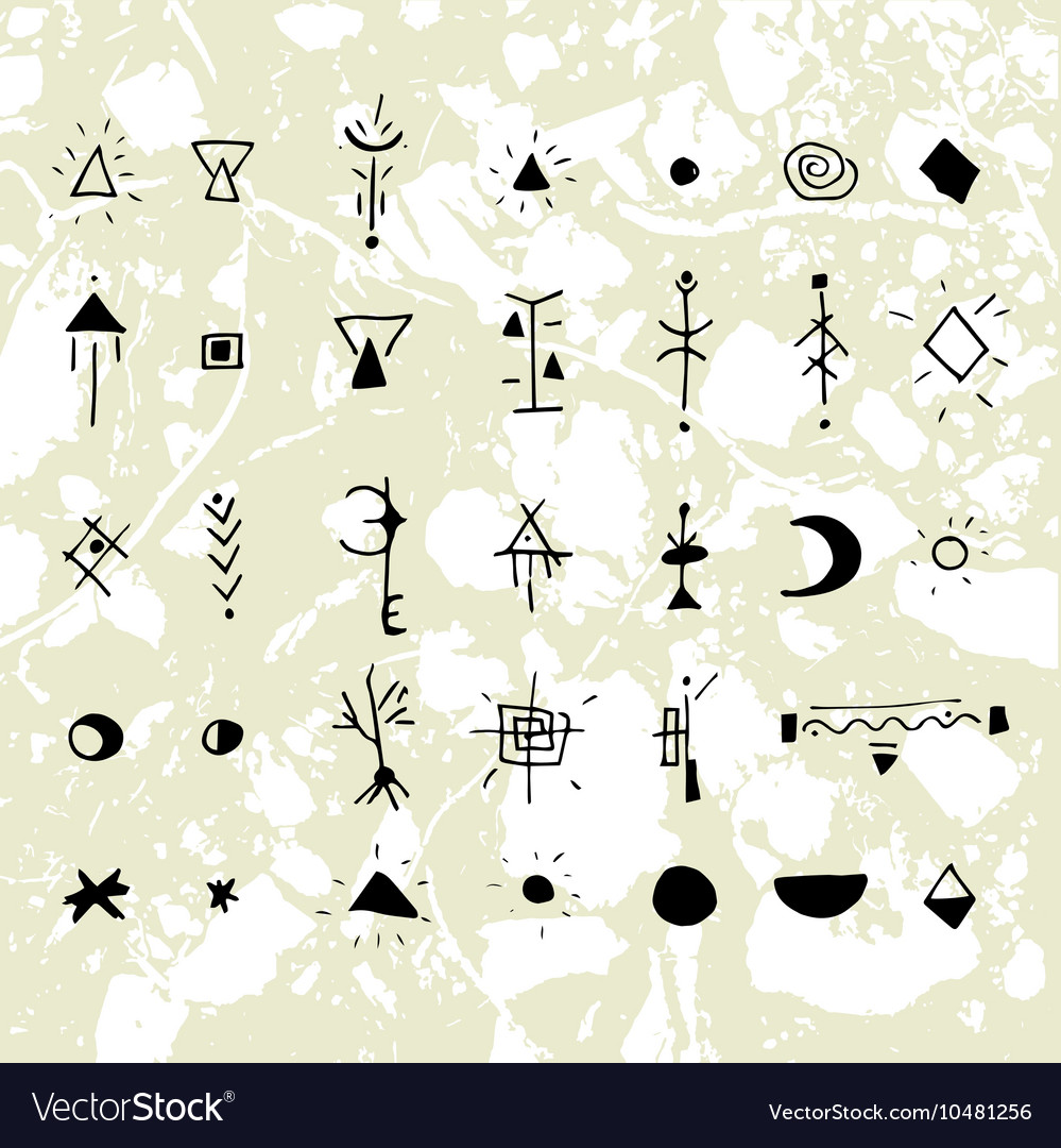 The mystical signs and symbols vector image