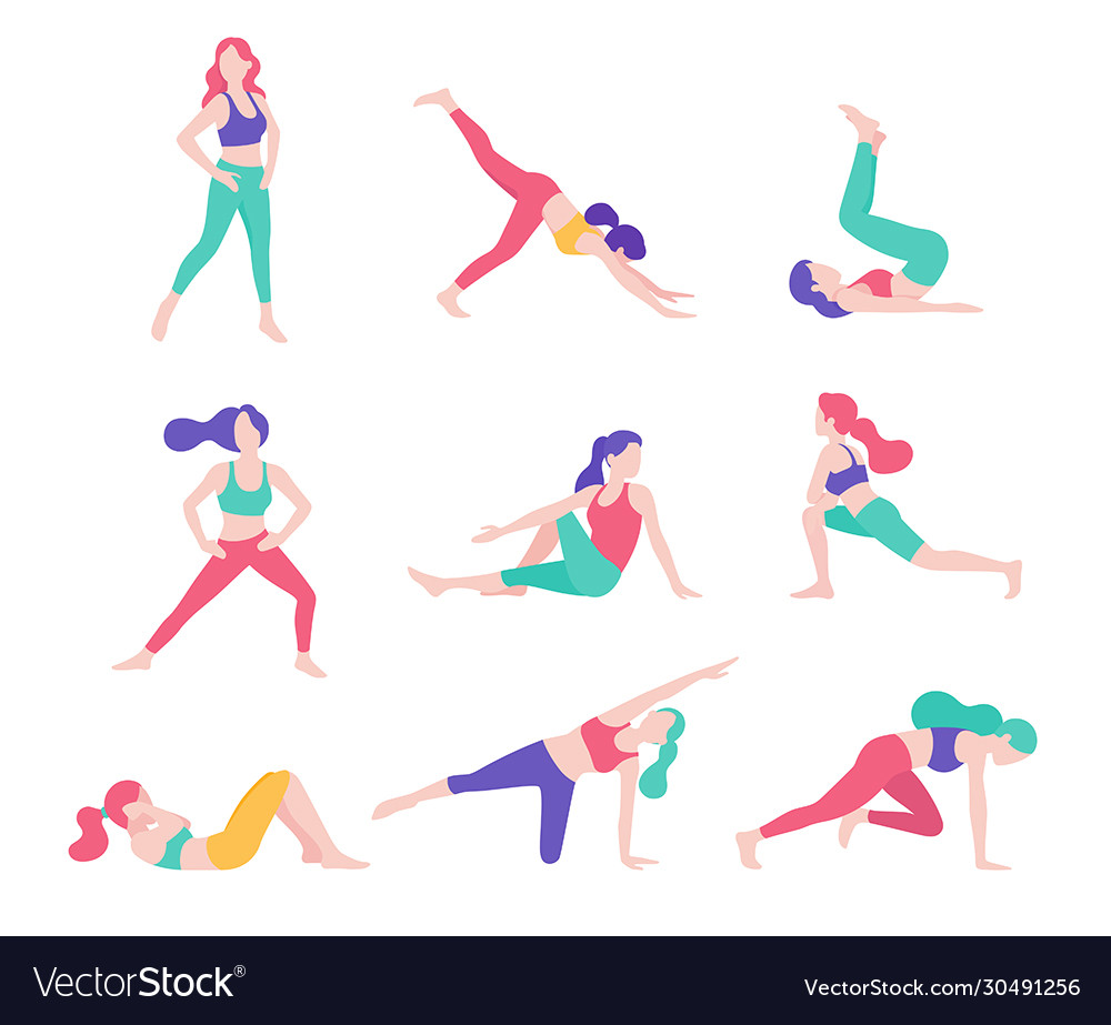 Women fitness exercise posture
