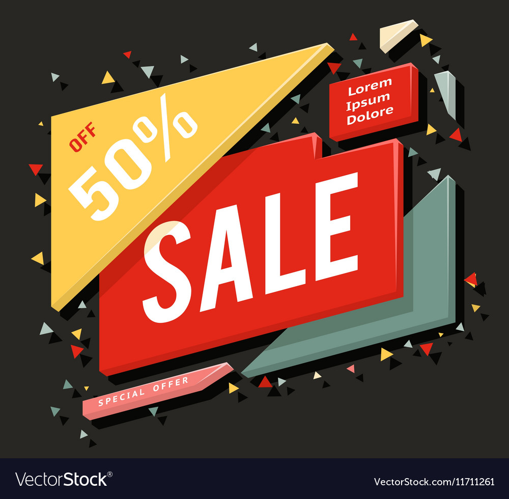 Big sale advertising banner layout special offer