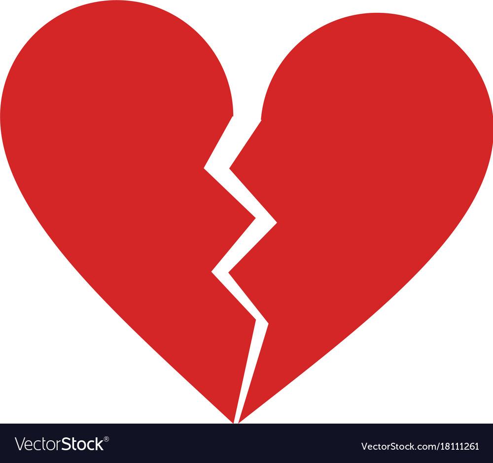 broken heart cartoon icon image royalty free vector image