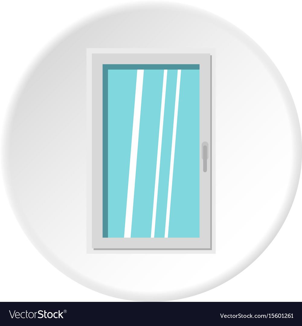 Closed white window icon circle