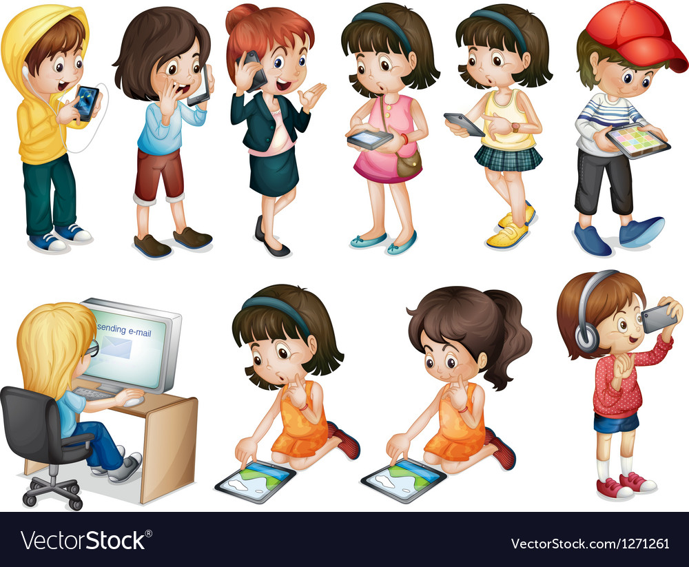 Different activities of young women vector image