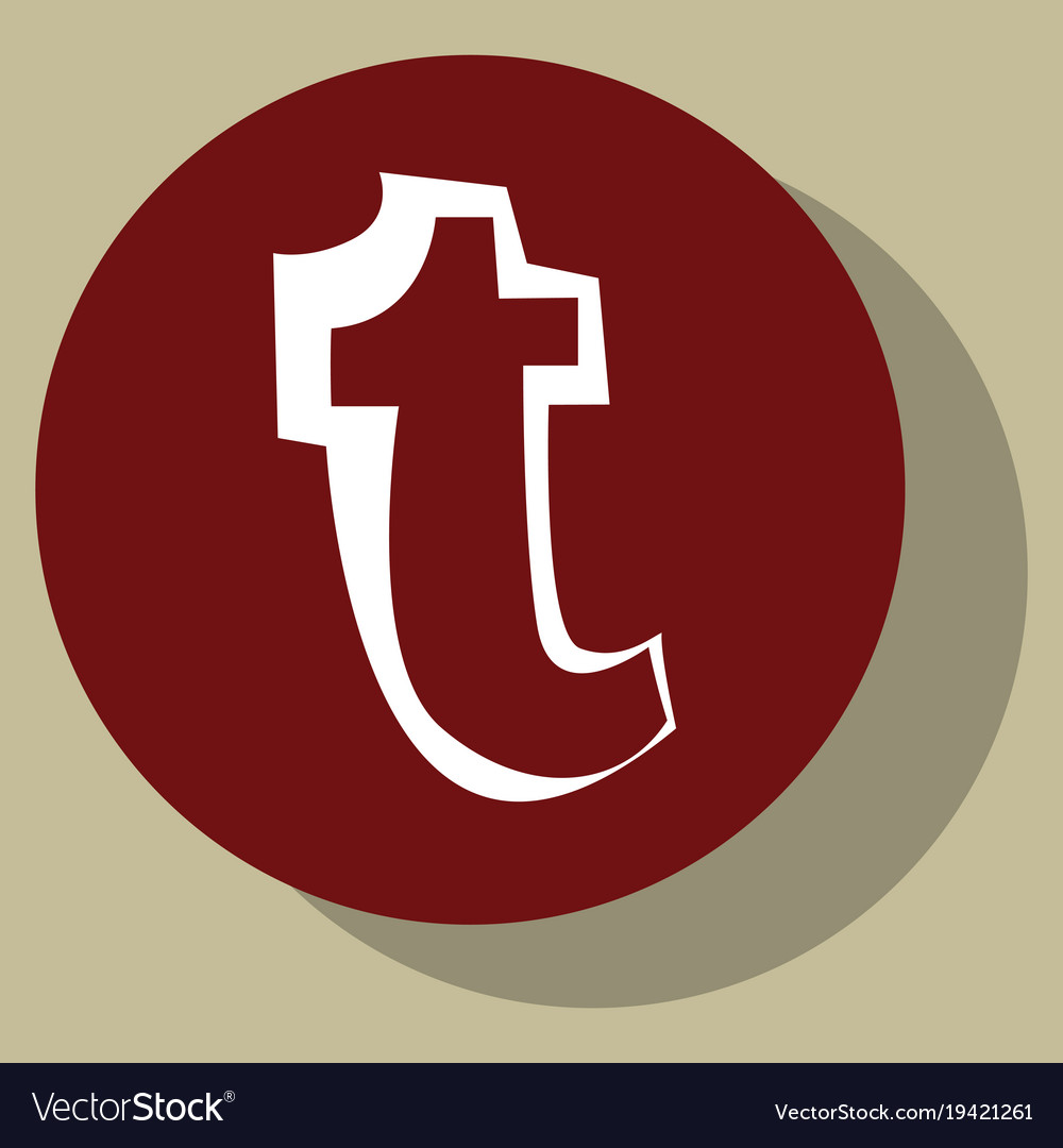 Flat tumblr social media icons vector image