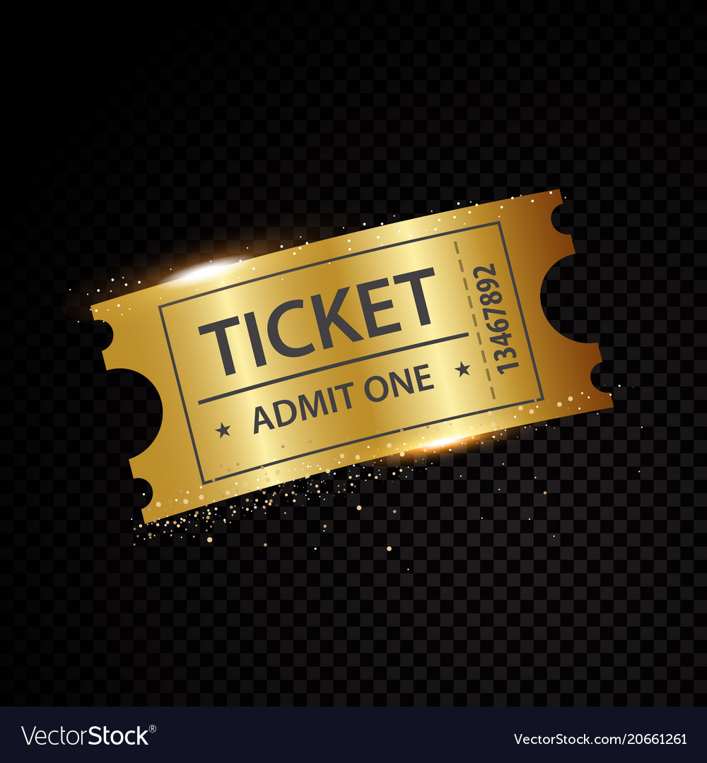 Golden tickets and coupons templates