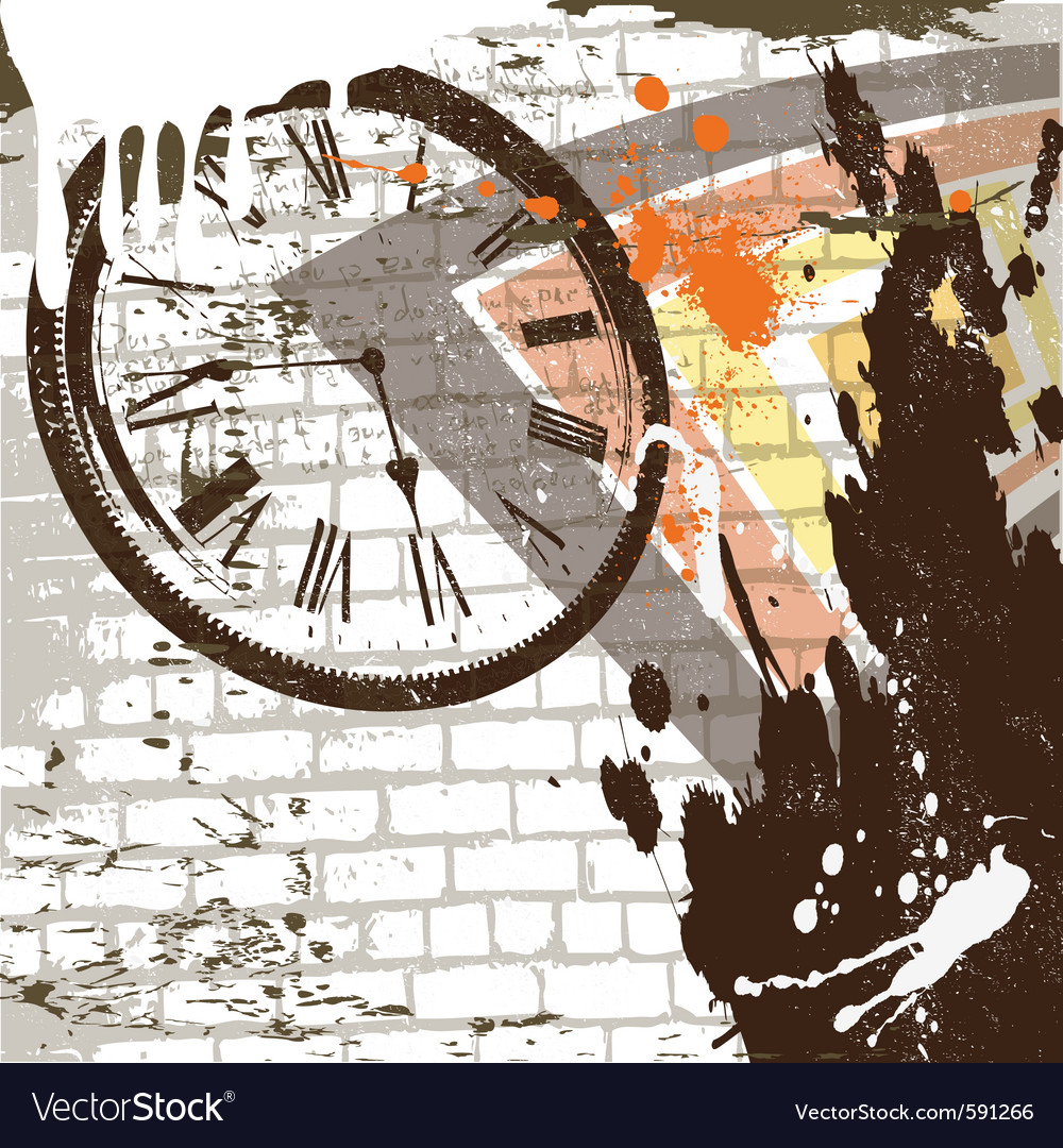 Abstract grunge wall background vector image