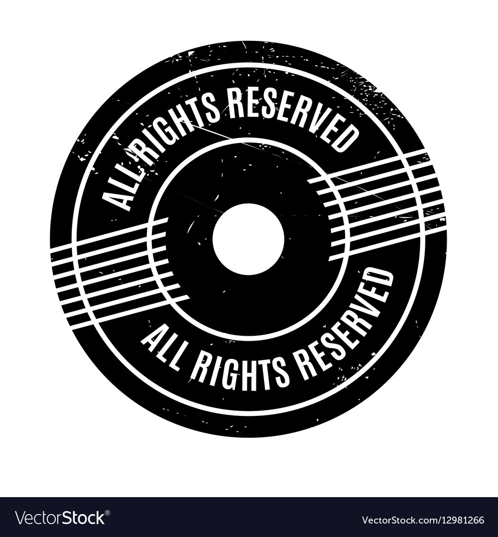 All Rights Reserved Rubber Stamp Royalty Free Vector Image