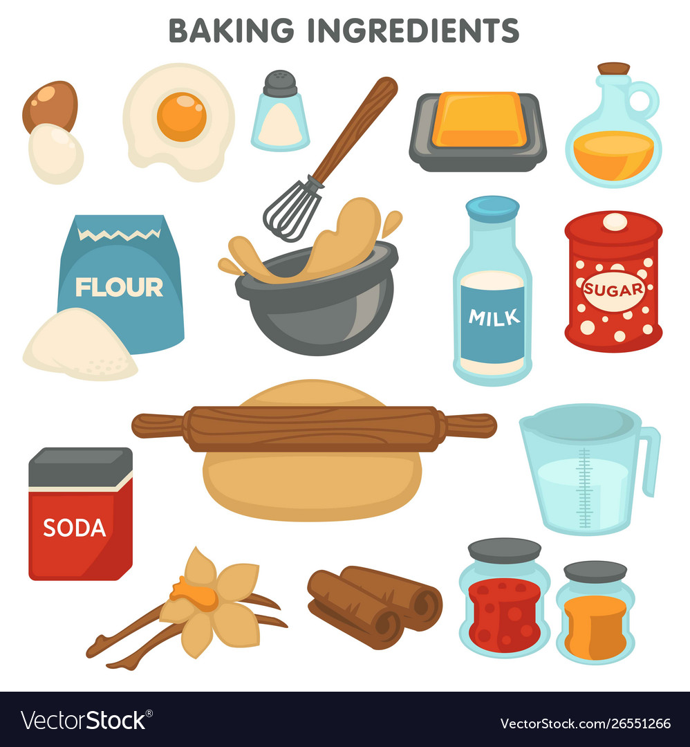 Baking ingredients food and cooking kitchen items