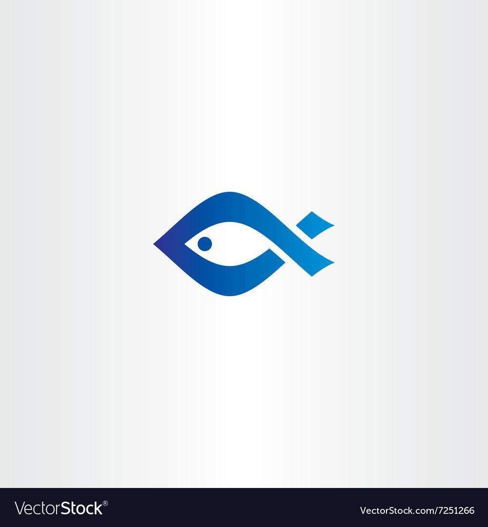 Blue icon fish logo