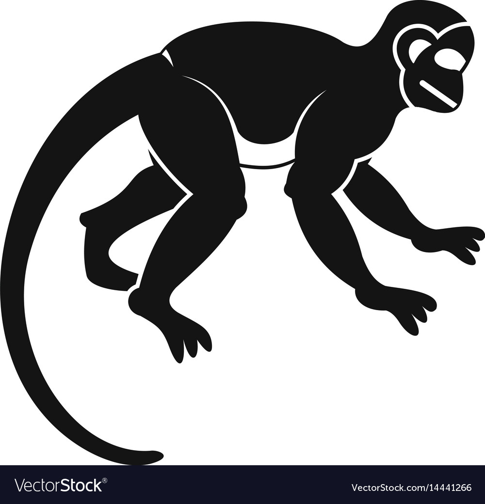 Capuchin monkey icon simple style Royalty Free Vector Image