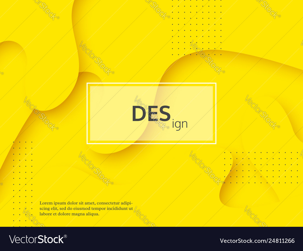 Liquid abstract yellow and white background