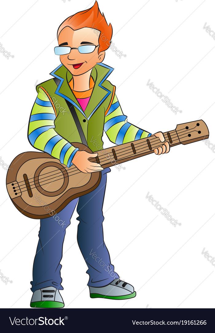 Male guitarist