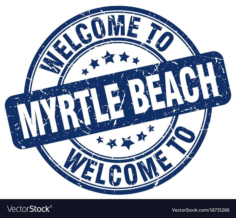 Welcome To Myrtle Beach Vector Image