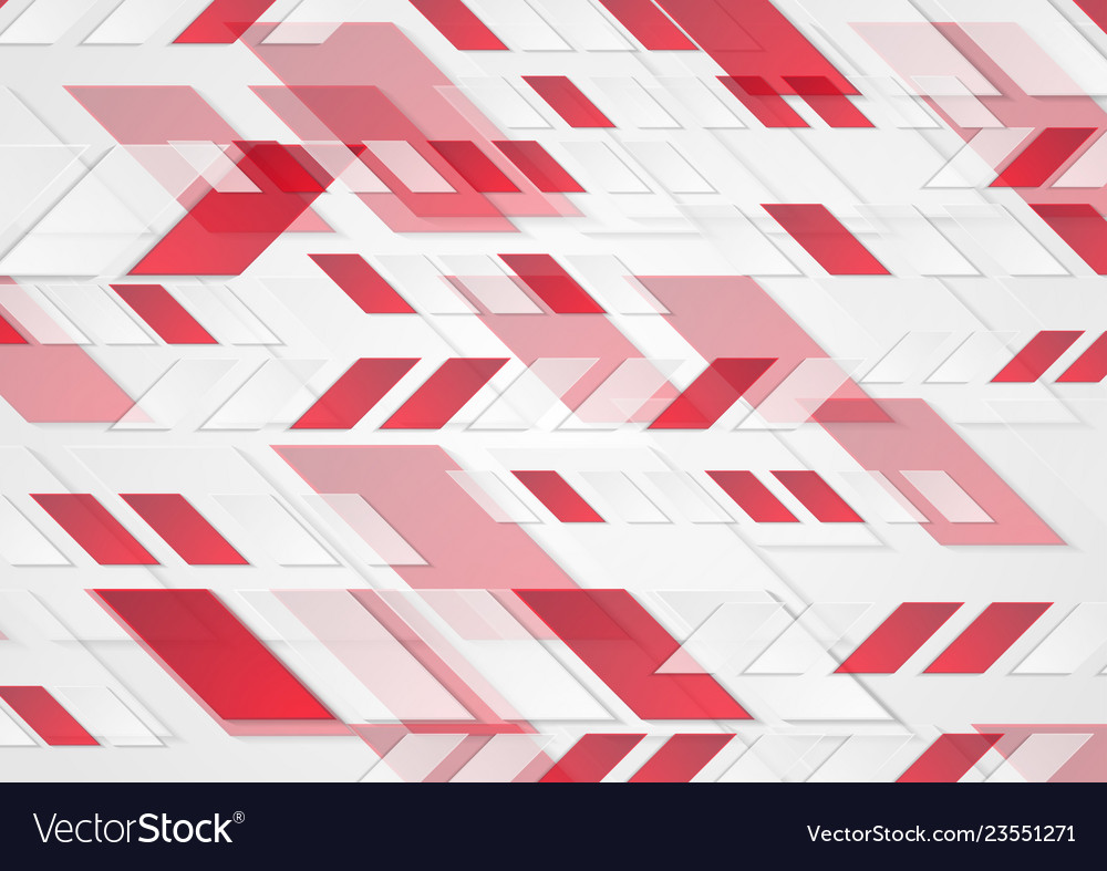 Bright red tech geometric abstract background