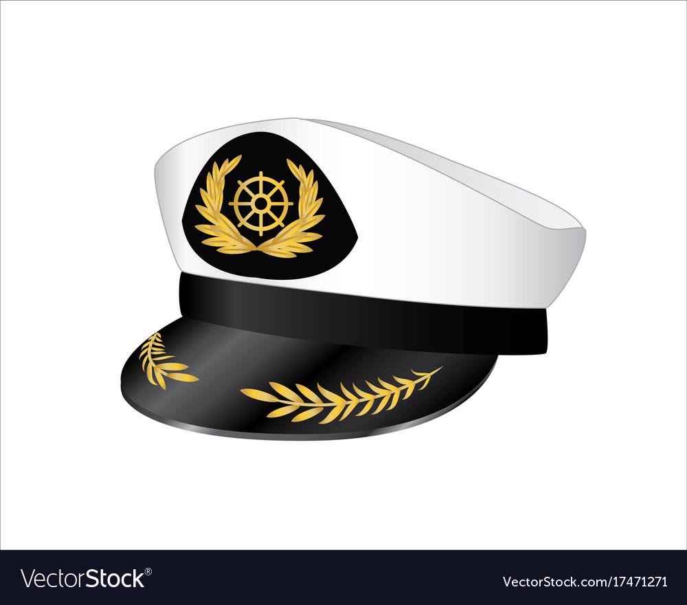 Captains hat vector image