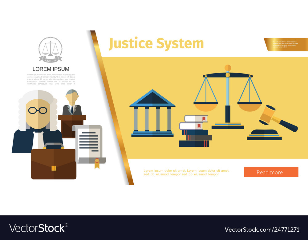 Colorful judicial system concept