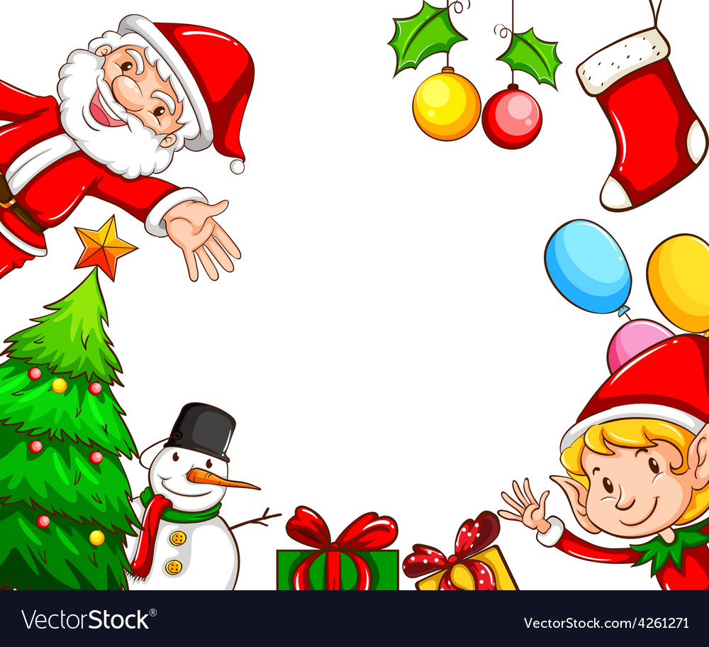 Frames with Christmas decors vector image