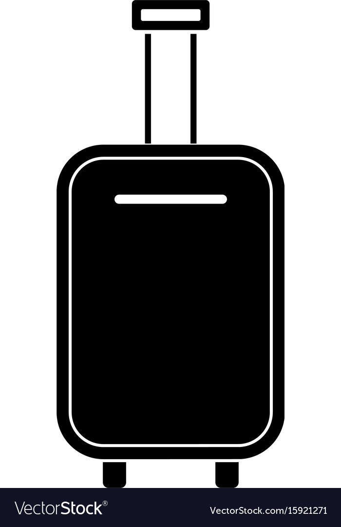 Luggage bag black color icon