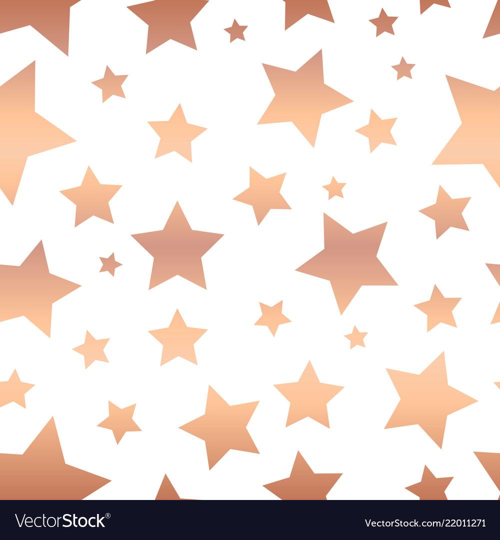 Shiny copper foil stars seamless pattern