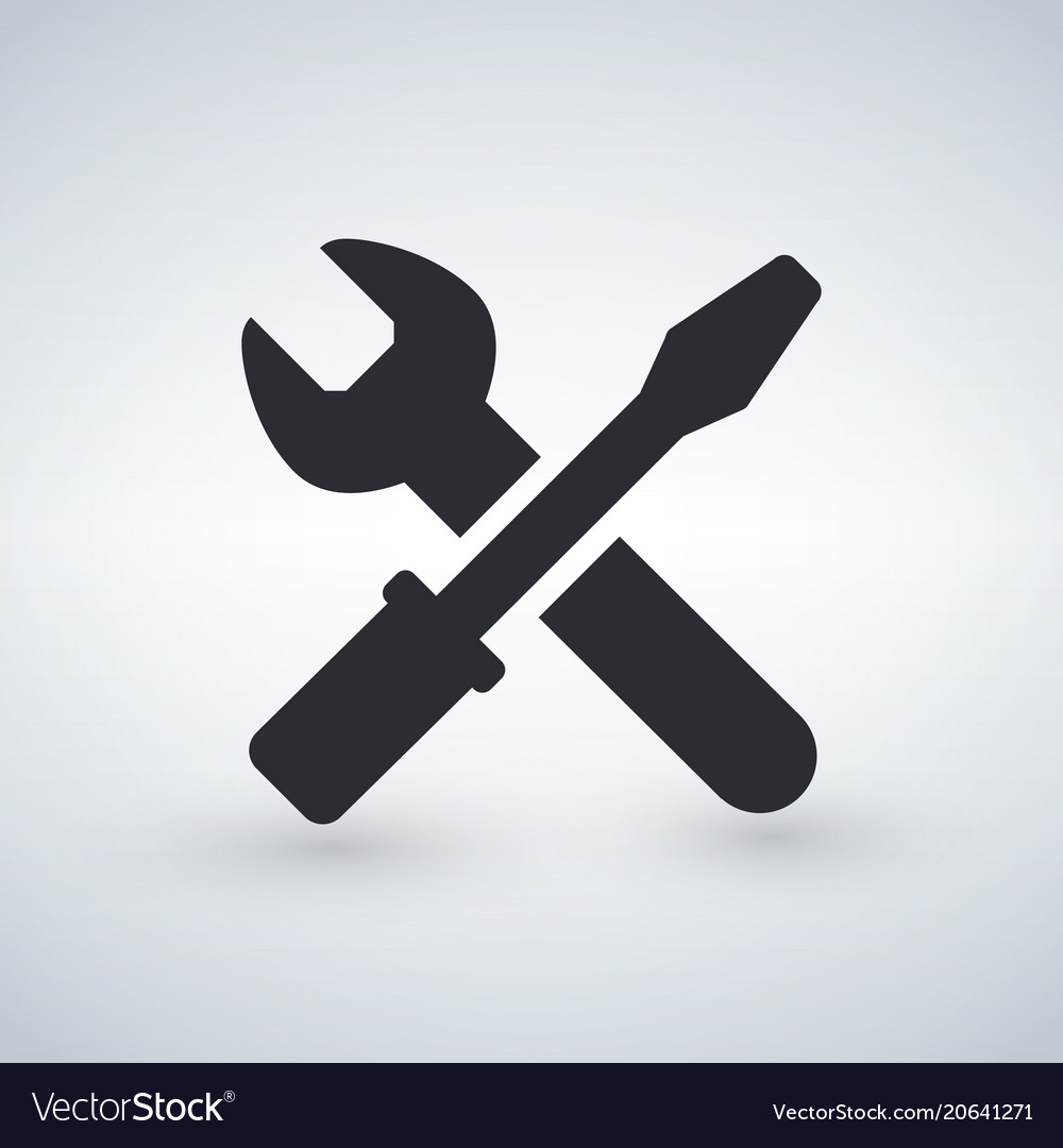Tools or repare service icon black isolated on