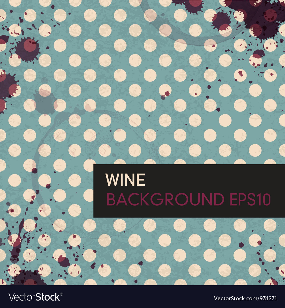 Wine rings on tableclotch vector image
