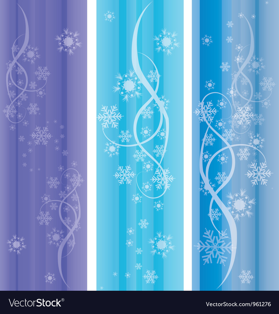 Abstract winter ornaments