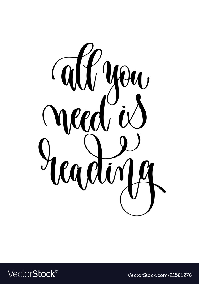 All you need is reading - hand lettering