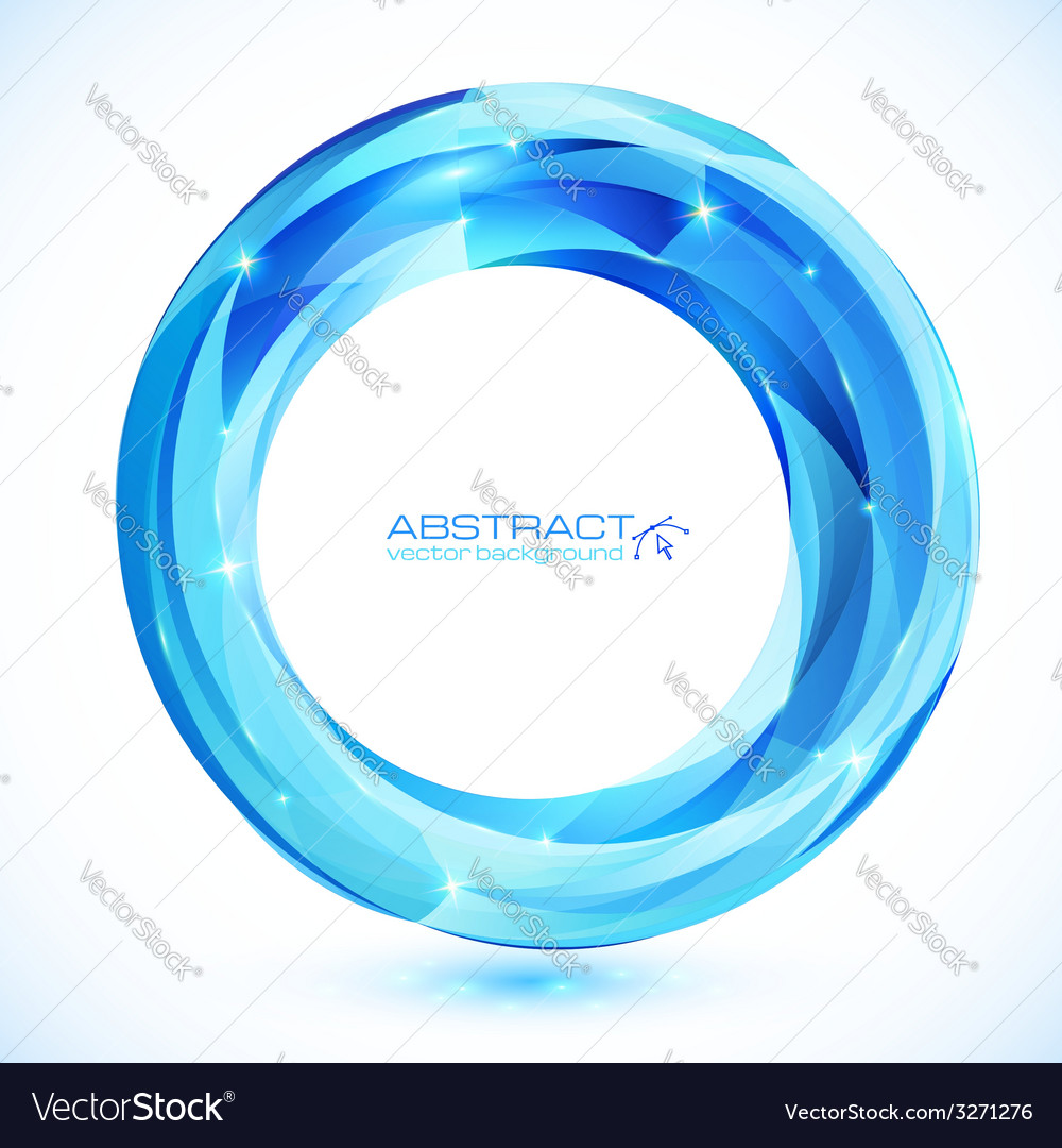 Blue shining crystal glass ring frame