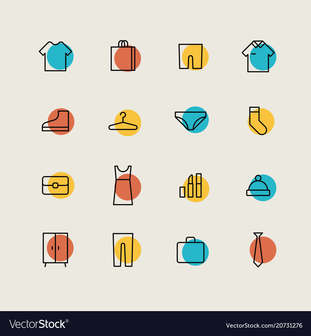 Clothes shopping minimal icons