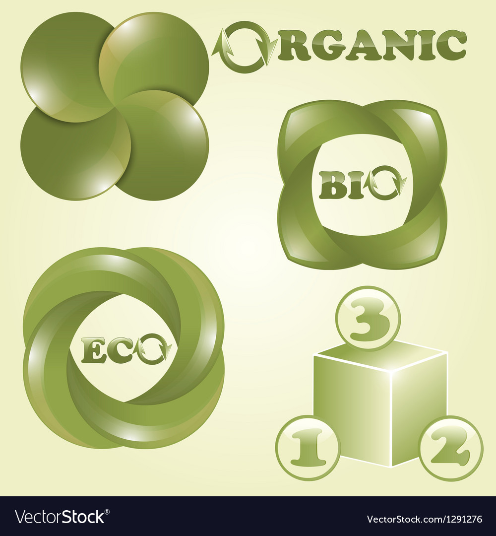 Eco bio and organic labels