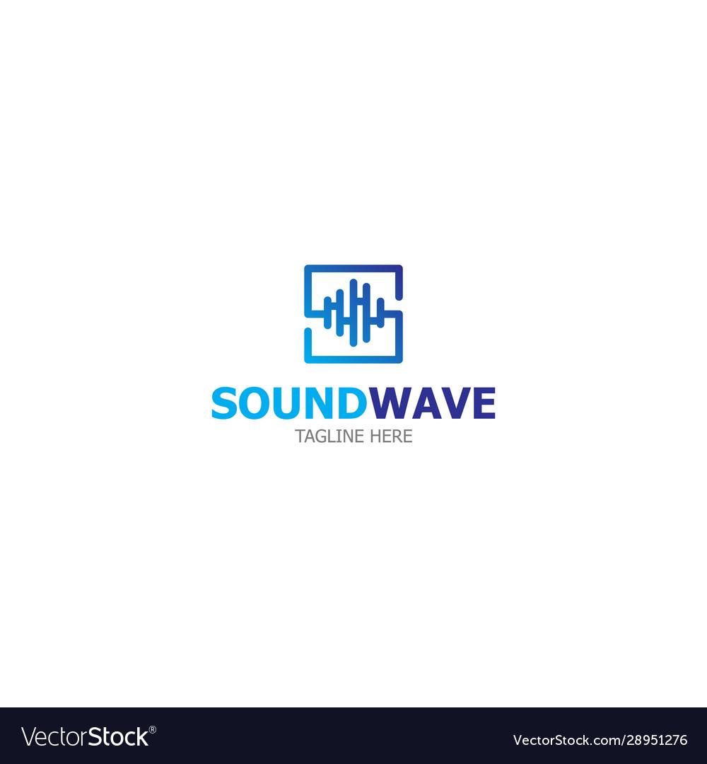 Logo template sound wave