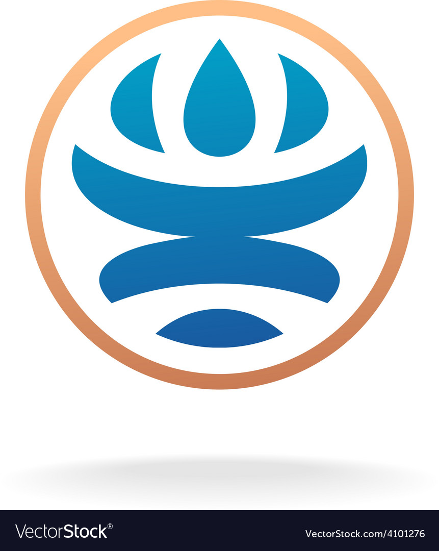Man silhouette inside Earth globe logo template vector image