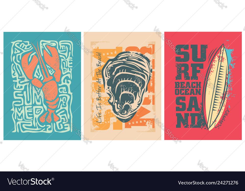Sea adventure design for the summer
