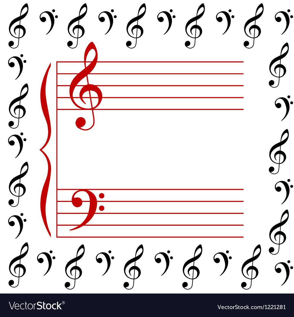 A musical stave vector image