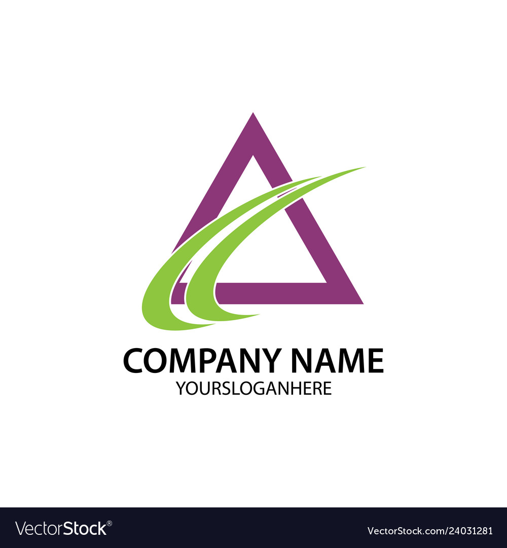 Abstract triangle business logo