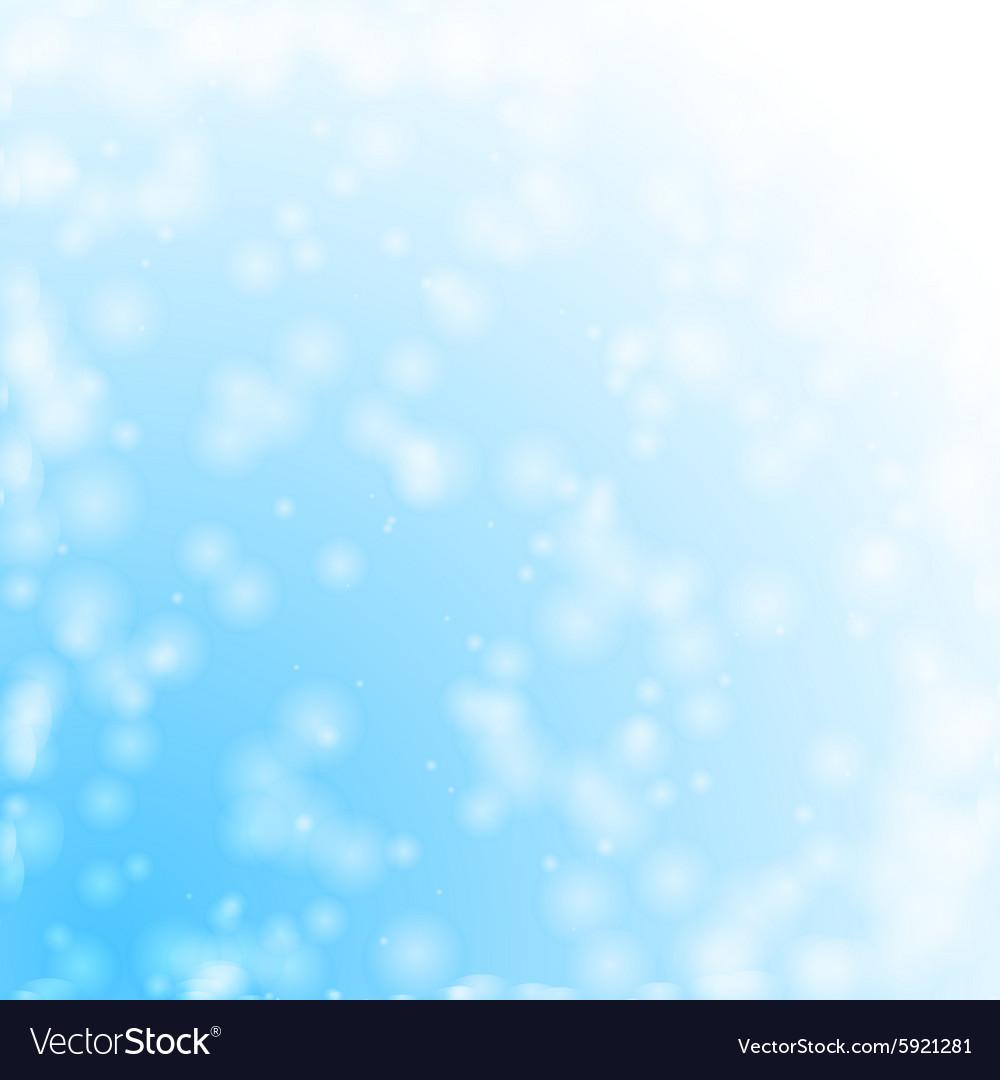 Bokeh snowing