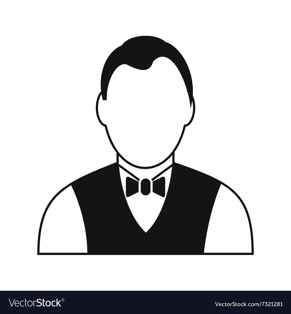 Croupier black simple icon vector image