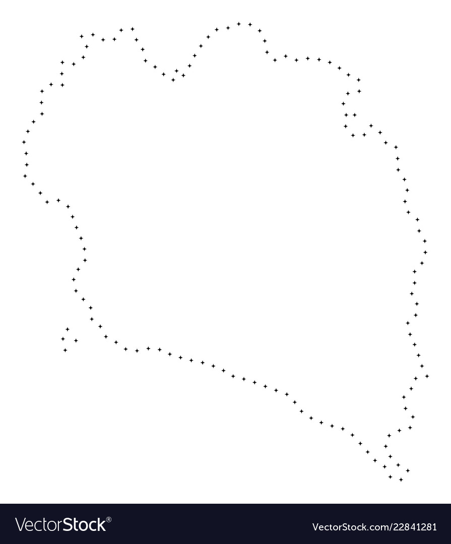 Koh Phangan Thailand Map.Dotted Stroke Koh Phangan Thai Island Map Vector Image