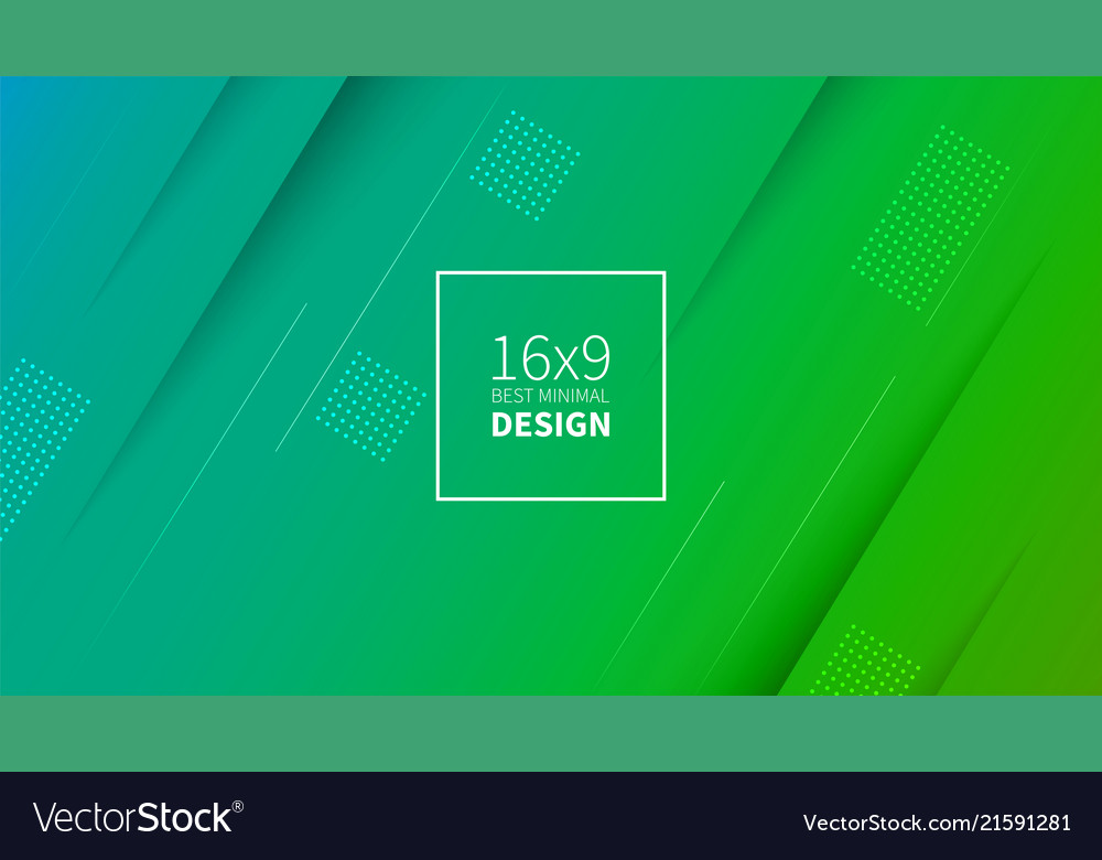 Futuristic design green and blue background