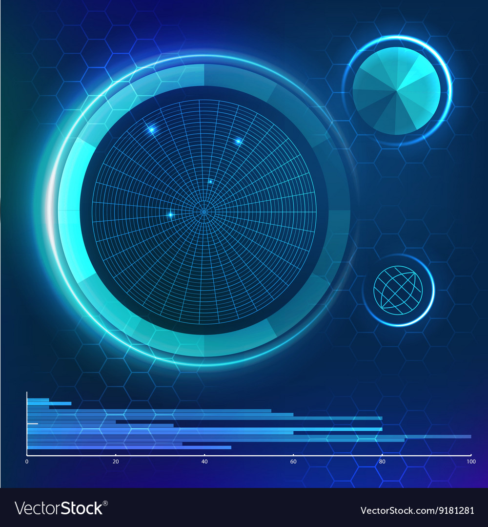 Futuristic user interface hud element