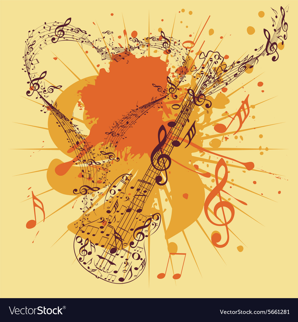 Music Poster with Guitar3 vector image