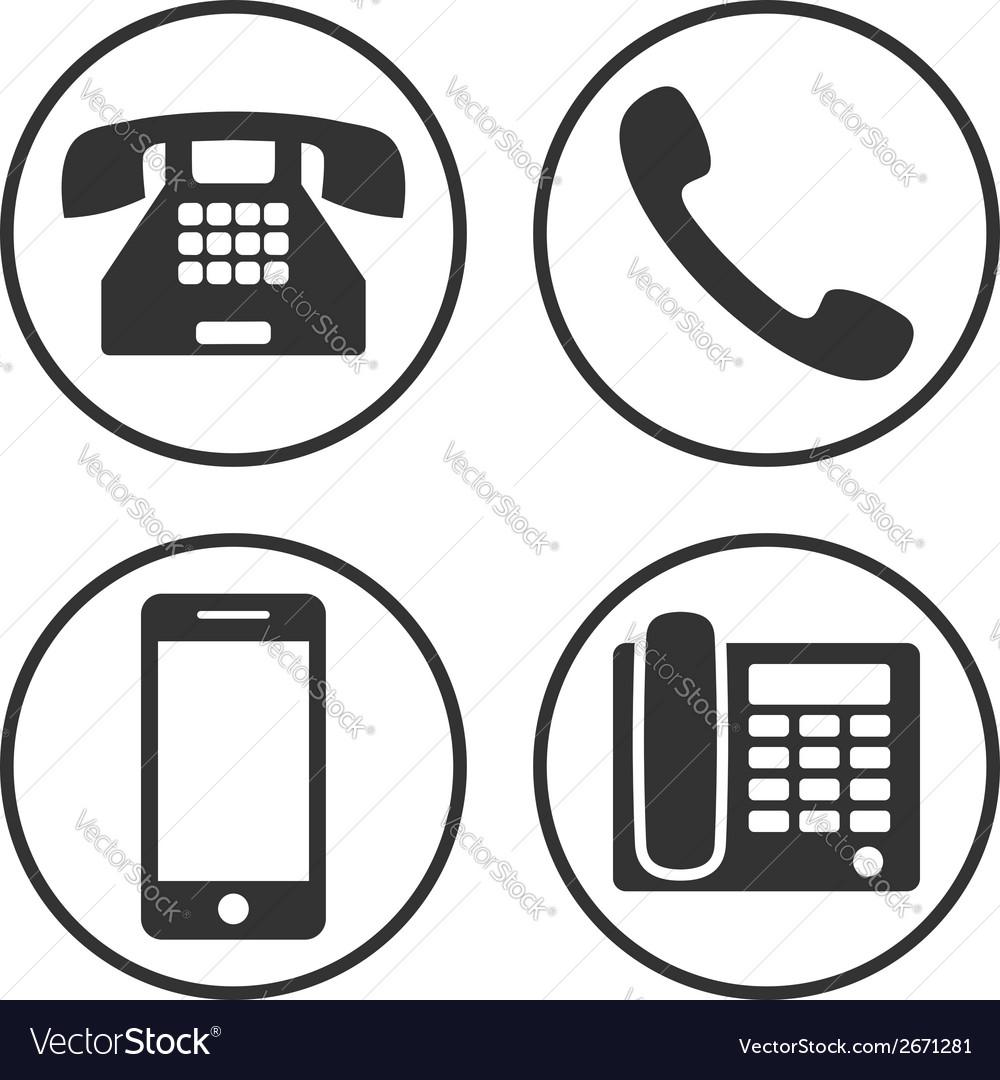 Set simple phone icon